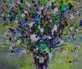Still life bouquet  blue white colors 2009